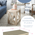 DIY Farmhouse End Table Woodworking Plans, Build A DIY Side Table For $20, Remodelaholic