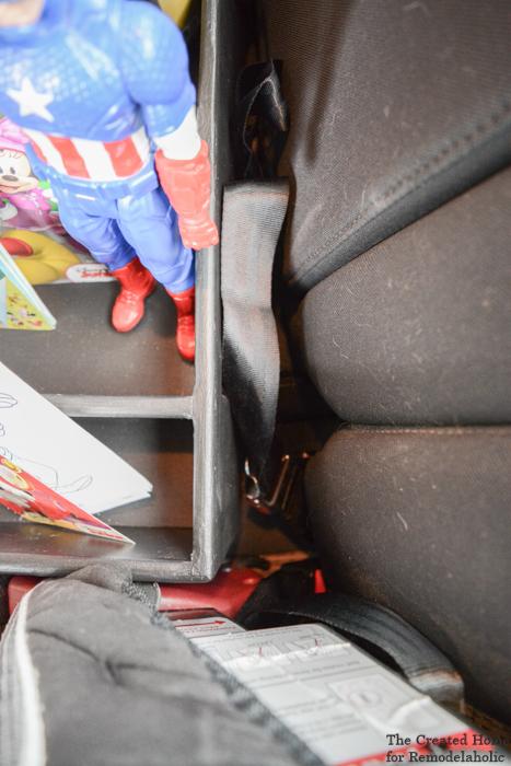 diy car organizer latch system
