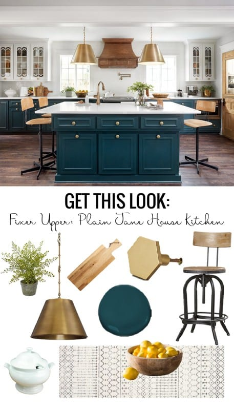 Get the Look of the Fixer Upper Plain Jane House Kitchen featured on Remodelaholic.com