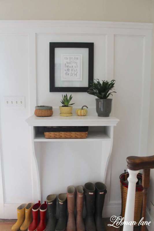 How To Build A Space Saving Built In Entryway Table Lehman Lane On @Remodelaholic