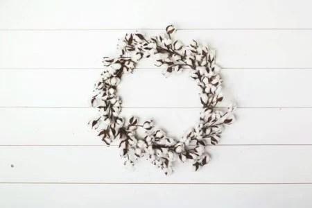 Magnolia Cotton Wreath Remodelaholic