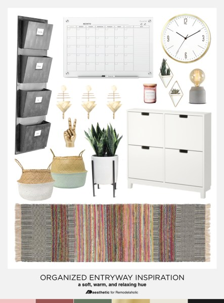 Organized Entryway Mood Board
