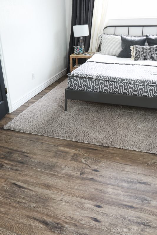 Get the look of hardwood floors without the upkeep and maintenance! This luxury vinyl wood plank flooring looks gorgeous and it's waterproof!