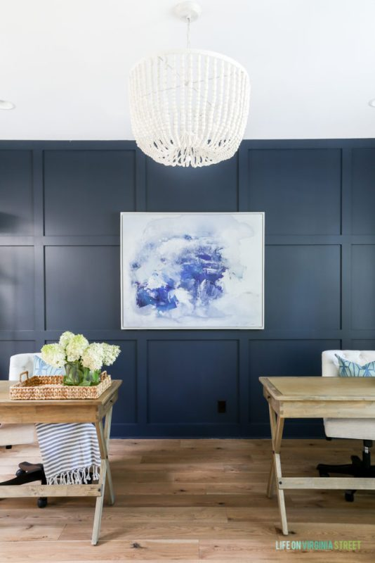 Best DIY Tutorials And Tips, Office Makeover With Hale Navy Panel Wall And White Oak Wood Floors Life On Virginia Street