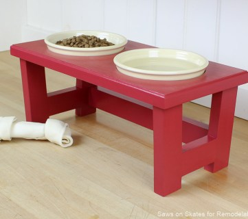 DIY Dog Food Bowl Stand for Small Pups