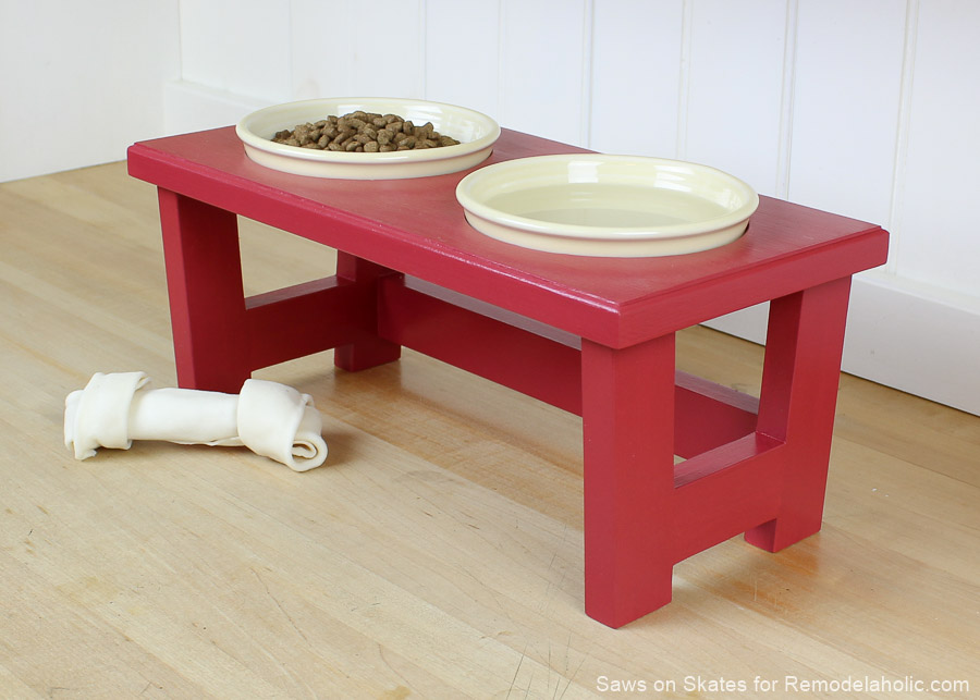 Diy Dog Food Bowl Stand Sos 7