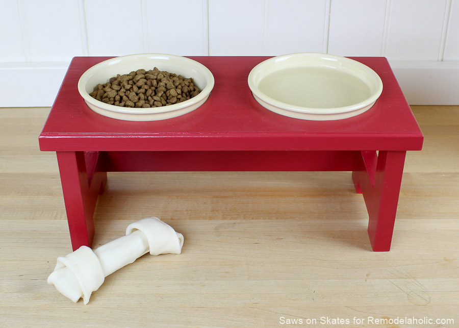 Remodelaholic Diy Dog Food Bowl Stand For Small Pups