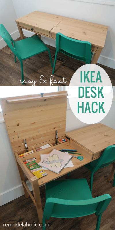 Remodelaholic Diy Ikea Hemnes Desk Hack Into Double Duty