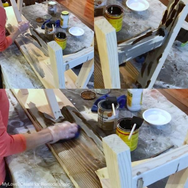 Multi Stain Technique, Easy DIY Bench, MyLove2Create