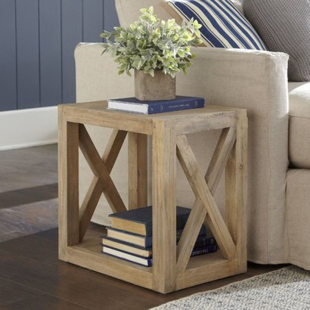 Multi Use Farmhouse End Table, DIY Side Table Woodworking Plan, Apieceofrainbowblog Remodelaholic