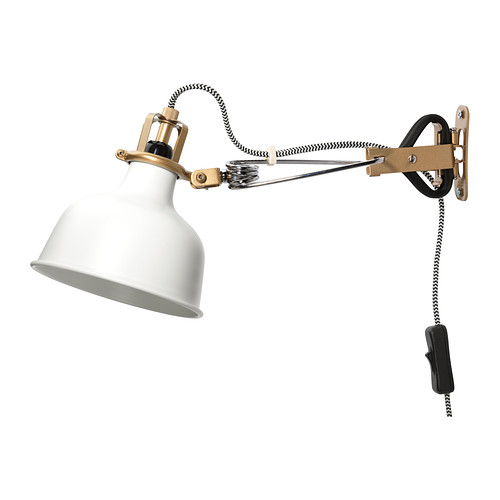 Ranarp Wall Clamp Spotlight With Led Bulb White 0210363 PE363794 S4