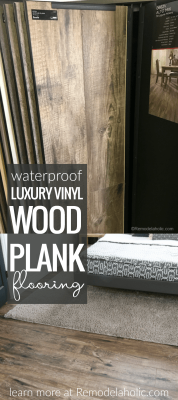 Waterproof Luxury Vinyl Wood Plank Flooring @Remodelaholic