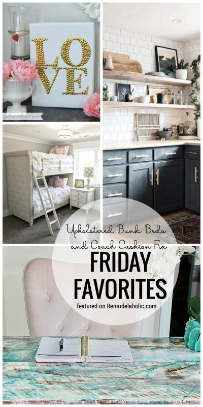 Couch Cushion Fix And So Many Other Fun Ideas Featured On Remodelaholic.com For Friday Favorites