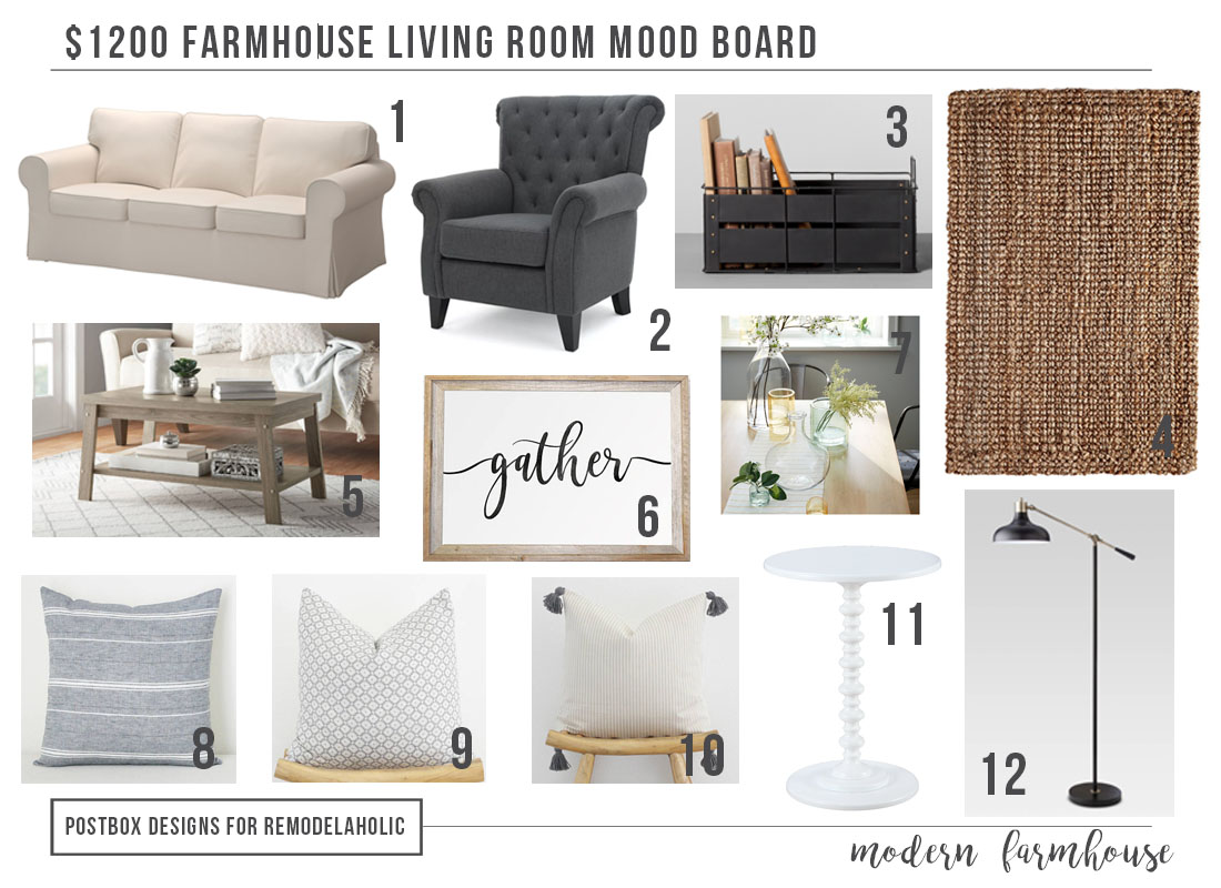 Remodelaholic Modern Farmhouse Living Room For Just 1200