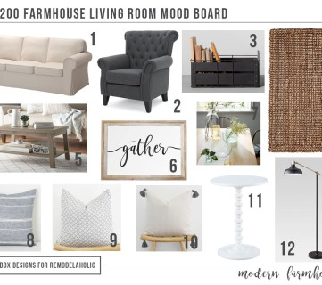 Modern Farmhouse Living Room for Just $1200!