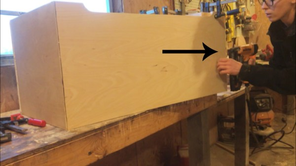 Woodshop Diaries Toy Box Brad Nail Mitered Corners