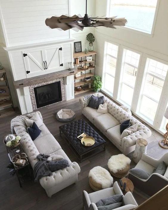 Postbox Designs: $1200 Modern Farmhouse Family Room Design, Farmhouse Family Room Makeover