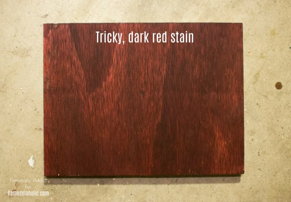 Dark Red Mahogany Wood Stain Tanin WM