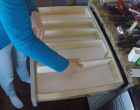 Remodelaholic Removable Large Utensil Drawer Organizer Step 2a
