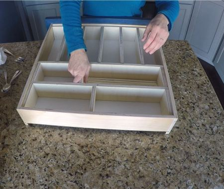 Remodelaholic Removable Utensil Drawer Organizer Step 13