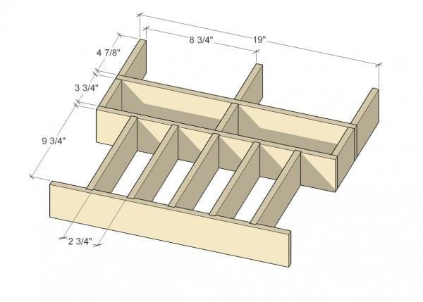 Remodelaholic Removable Utensil Drawer Organizer Step 2a