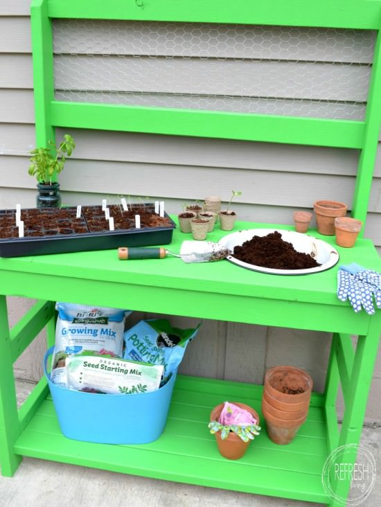 DIY 2x4 Potting Bench, Refresh Living