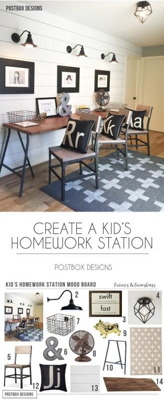Postbox Designs: Create a Kid's Homework Station