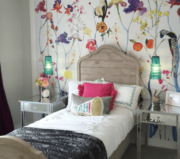 Get This Look: Colorful Eclectic Teen Girl Bedroom