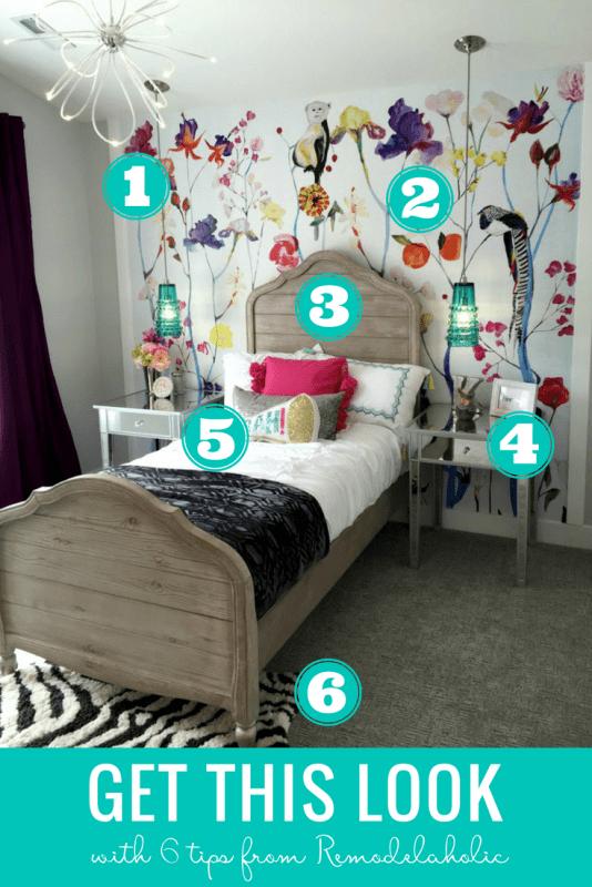 Remodelaholic Get This Look Colorful Eclectic Teen Girl Bedroom