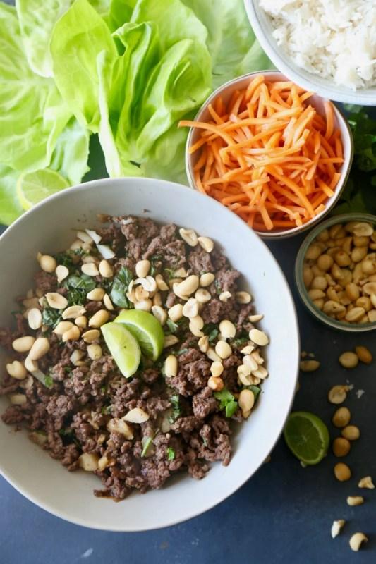 Thai Beef Lettuce Cups 3