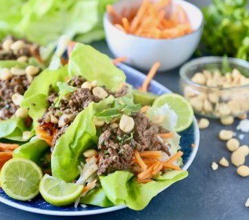 Thai Beef Lettuce Cups 9