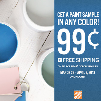 Behr Sample Sale