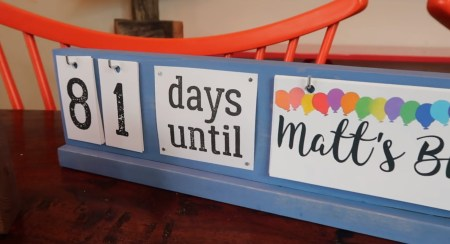 Holiday Countdown Board 05 Birthday