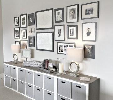 Homeshow Feature, Gallery Wall With IKEA Hack Wood Wrapped Cubbies
