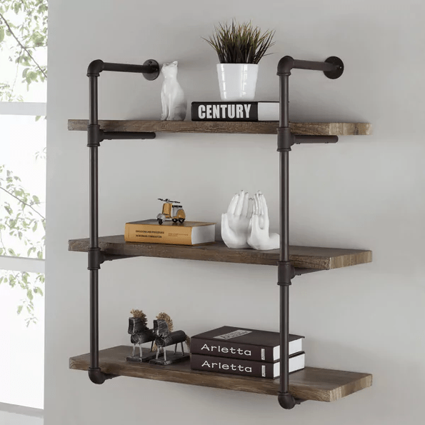 Industrial Pipe Wall Shelf, SYL