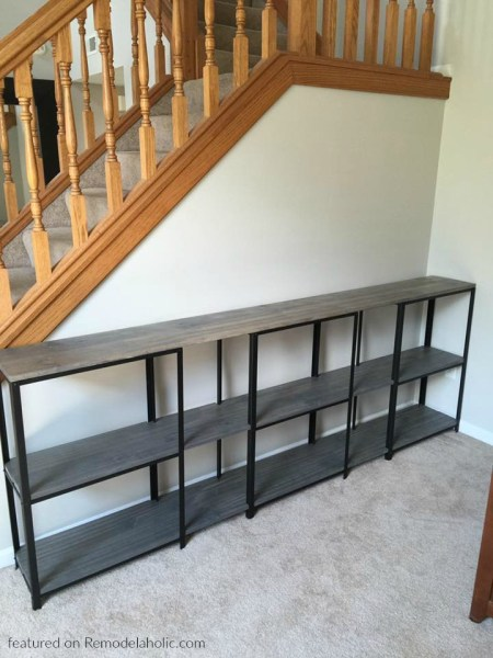 Metal And Wood TV Console IKEA Hack, Shanna Featured On Remodelaholic Wm