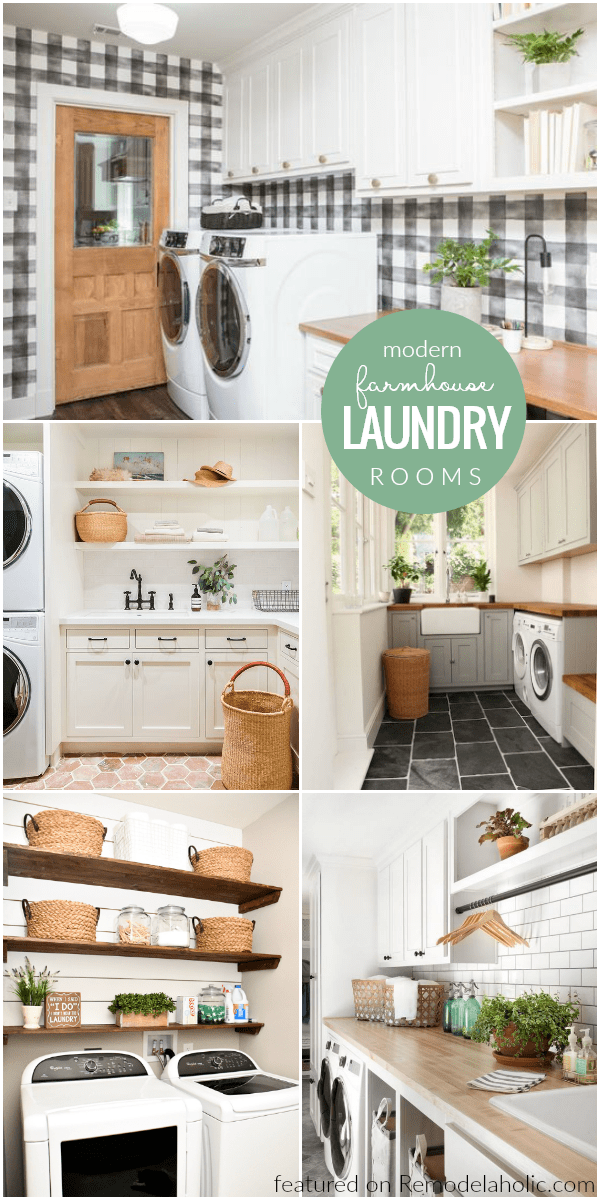 Modern farmhouse laundry room decorating ideas and inspiration remodelaholic