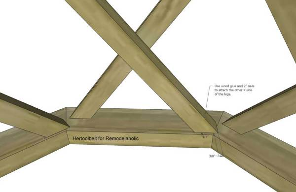 Outdoor Coffee Table Octagon Attach Legs 2