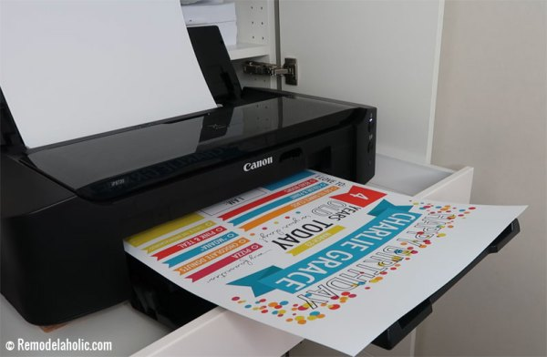 Print Fillable Birthday Poster Infographic @Remodelaholic