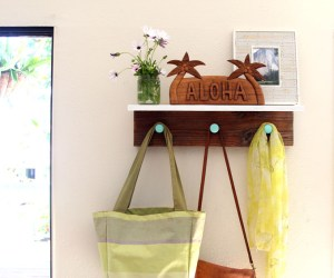 DIY Wood Wall Hanging Shelf ApieceofRainbowblog (14)