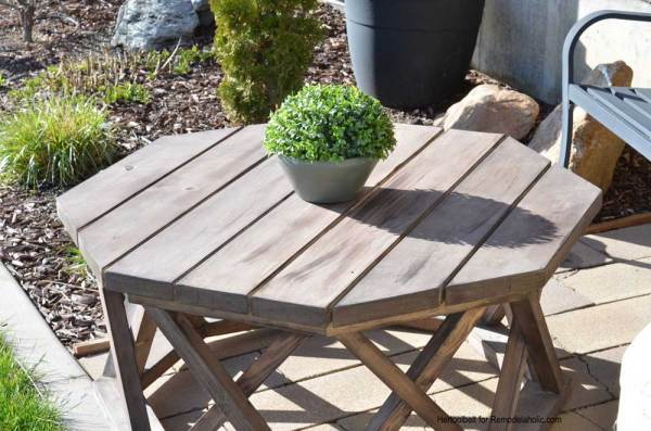 Round or Octagon DIY Outdoor Coffee Table | Outdoor Furniture Woodworking Plan