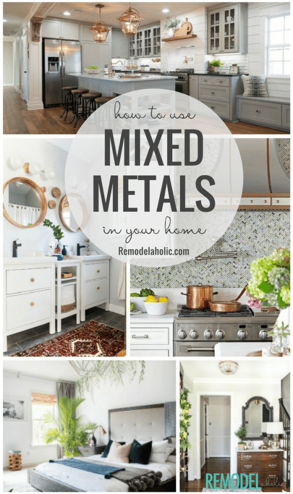 How to decorate with mixed metals finishes and hardware #remodelaholic #colorfiles