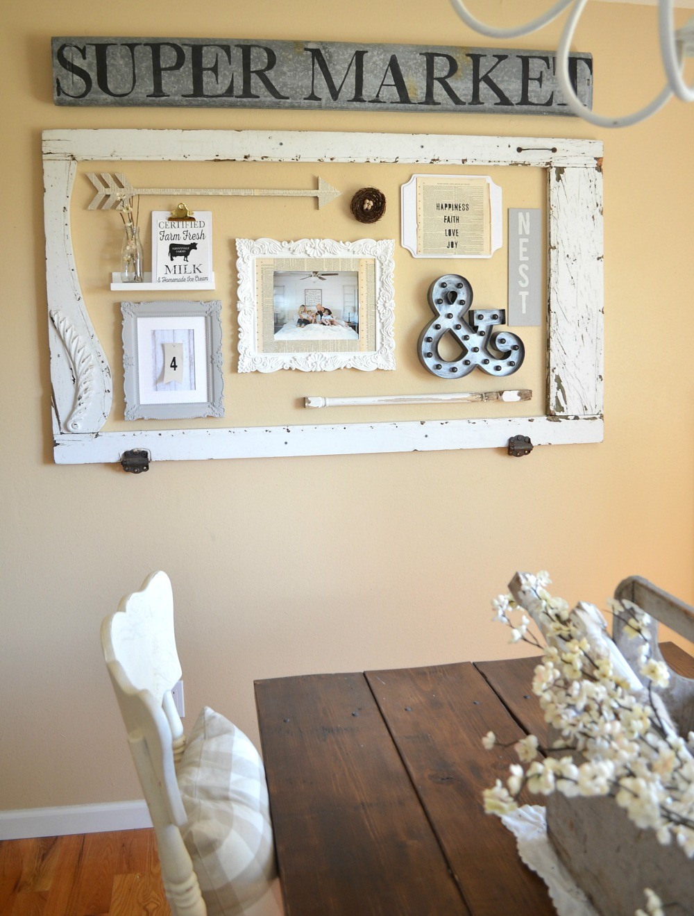 Dining Room Farmhouse Gallery Wall Little Vintage Nest