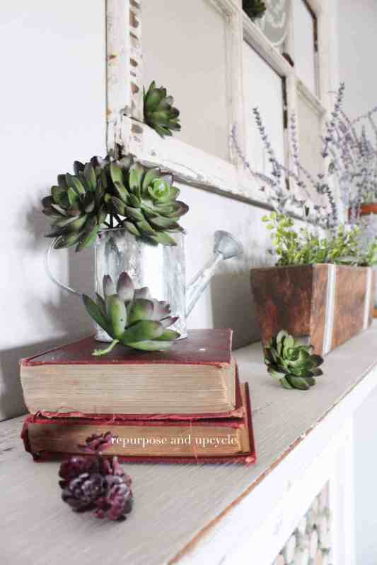 Spring Mantel, Repurpose And Upcycle
