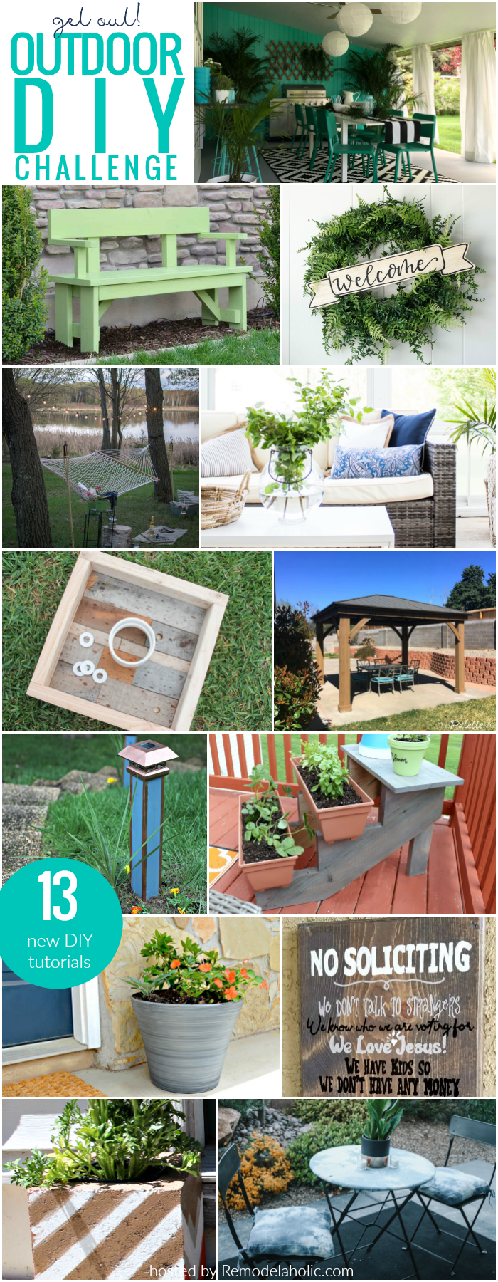 The BEST Outdoor DIY Projects for Your Home, Garden, Patio and Porch | free outdoor building plans + tutorials #remodelaholic