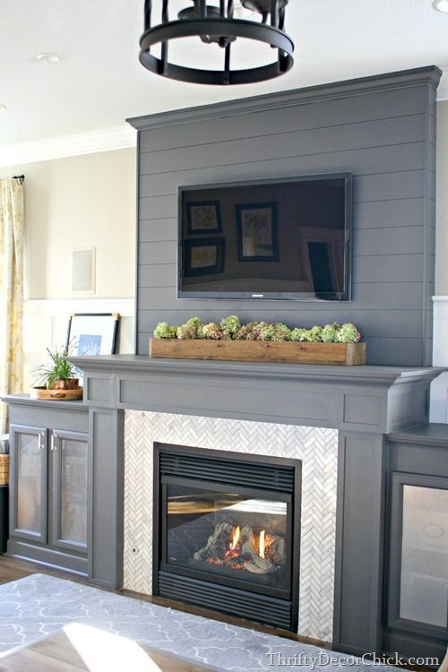 Remodelaholic Real Life Rooms Decorating Ideas For A Tv Above A