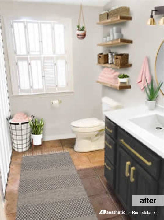 Postbox Designs: My $950 Budget Bathroom, Image: ADaesthetic