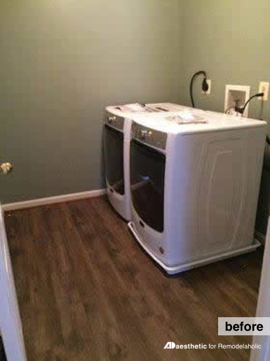 Before | Real Life Rooms: A Simple Laundry Room Update to Add Color and Character #remodelaholic