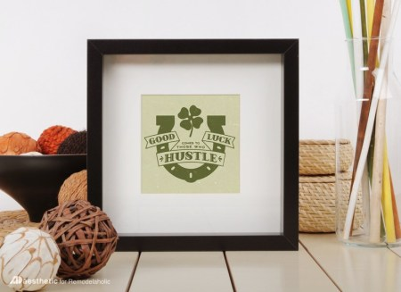 Free Printable Graphic Good Luck AD Aesthetic For Remodelaholic