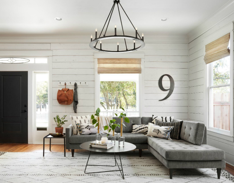 Remodelaholic | Get This Look: Fixer Upper Living Room from